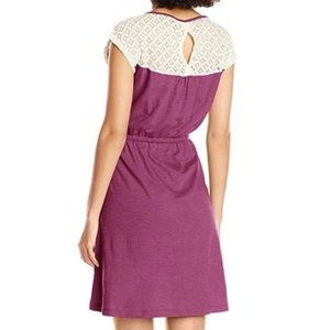 Prana Purple & Lace Dress